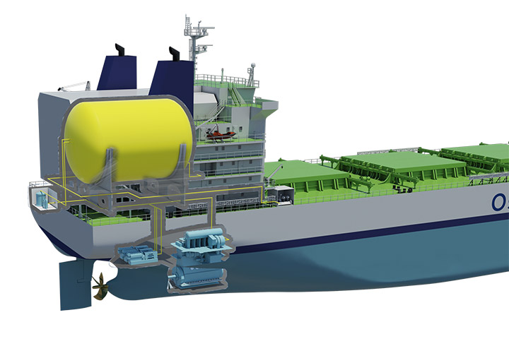 LNG fueled ship